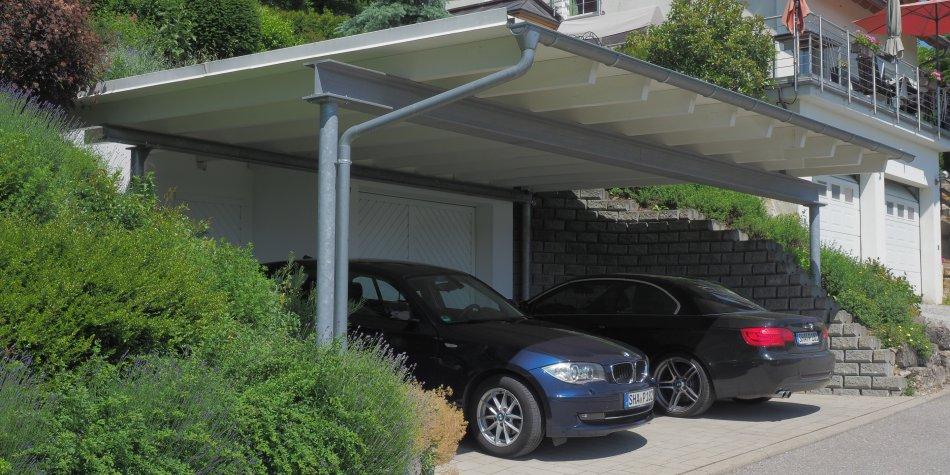 Carports und wetterschutz sacher holzbau sacher holzbau for Gartengestaltung carport